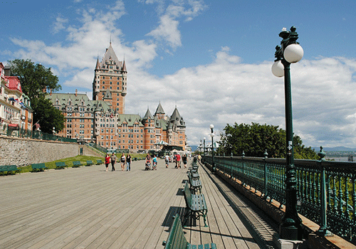 Quebec City boardwalk